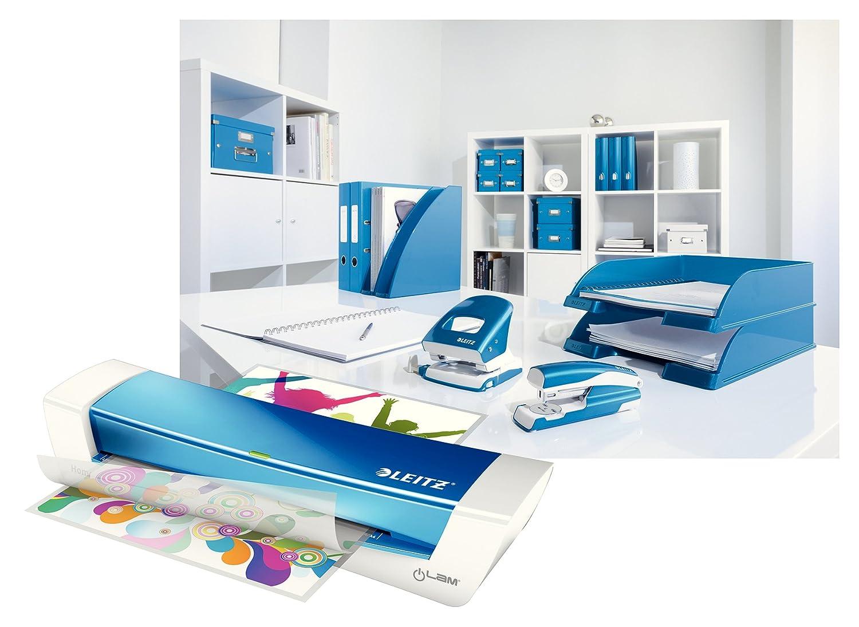 iLam Home Office A4 blau Leitz Laminierger/ät A4 ideal f/ür Home Office