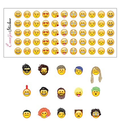 Emoji Sticker  Sheets Emoticon Stickers Smiley Face Decorative Funny Faces From Facebook Iphone