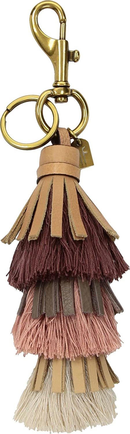 Frye Cotton Tiered Tassel Keychain Light tan 7yUDGtFuq