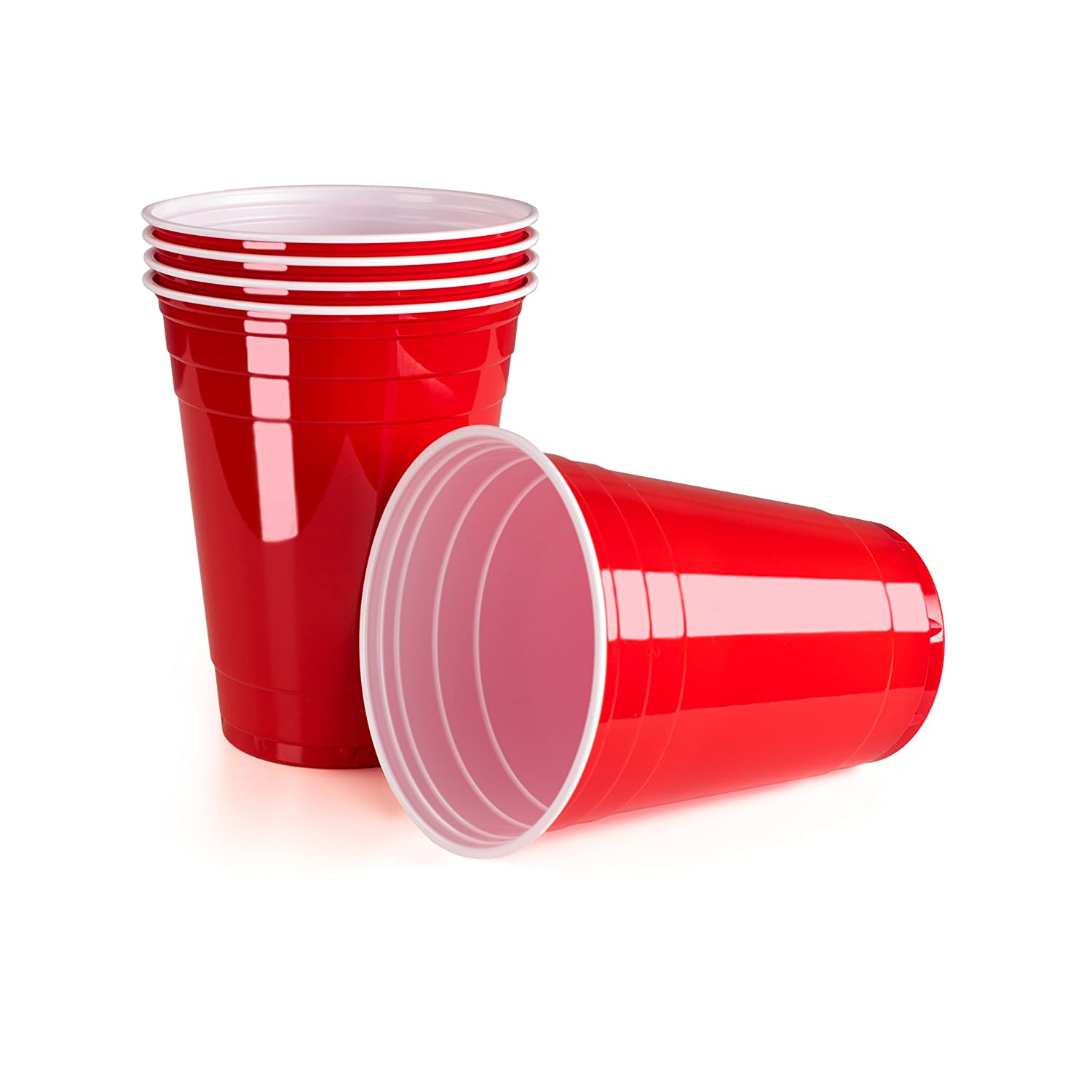 VIVALOO Red Plastic Party Cups, Red Cups, Red Plastic Cups, Red Party Cups (50) Everbrent