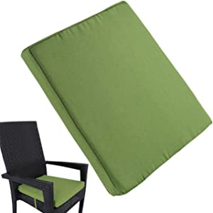 Uheng Patio Outdoor Chair Cushions with Ties, Seat Pads Mat, Waterproof Removable Cover, Comfort Memory Foam Nonslip for Garden Deck Picnic Beach Pool -18