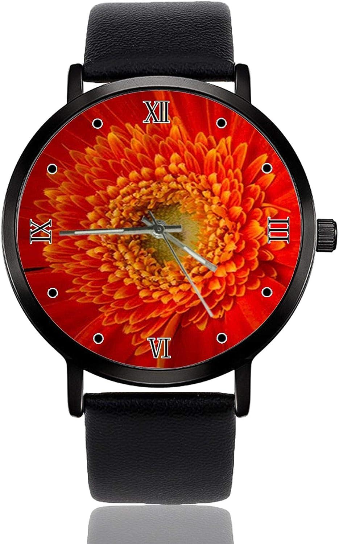 Daisy Flower Detail Cool Ultrathin - Reloj de Pulsera para Hombre y Mujer (Cuarzo, Resistente al Agua, Unisex)