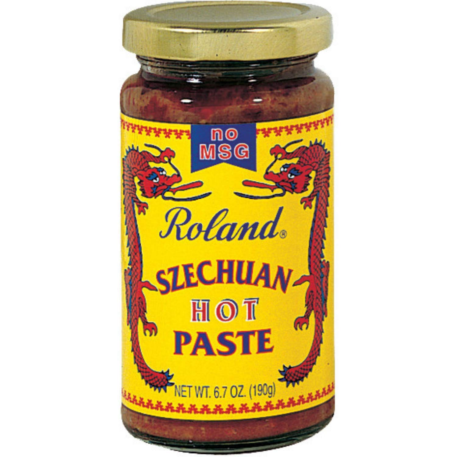 Roland Foods Hot Szechuan Paste, No MSG, Specialty Imported Food, 6.7-Ounce Jar, red (RO014)