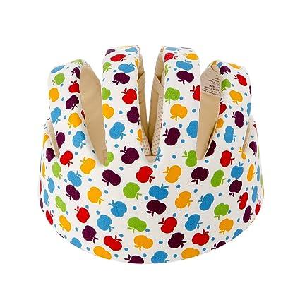 Newcomdigi Casco de Seguridad para Bebé Niño Infantil Gorra Antigolpes Sombrero  para Proteger Cabeza Aprender Gatear e0dd5eda3af