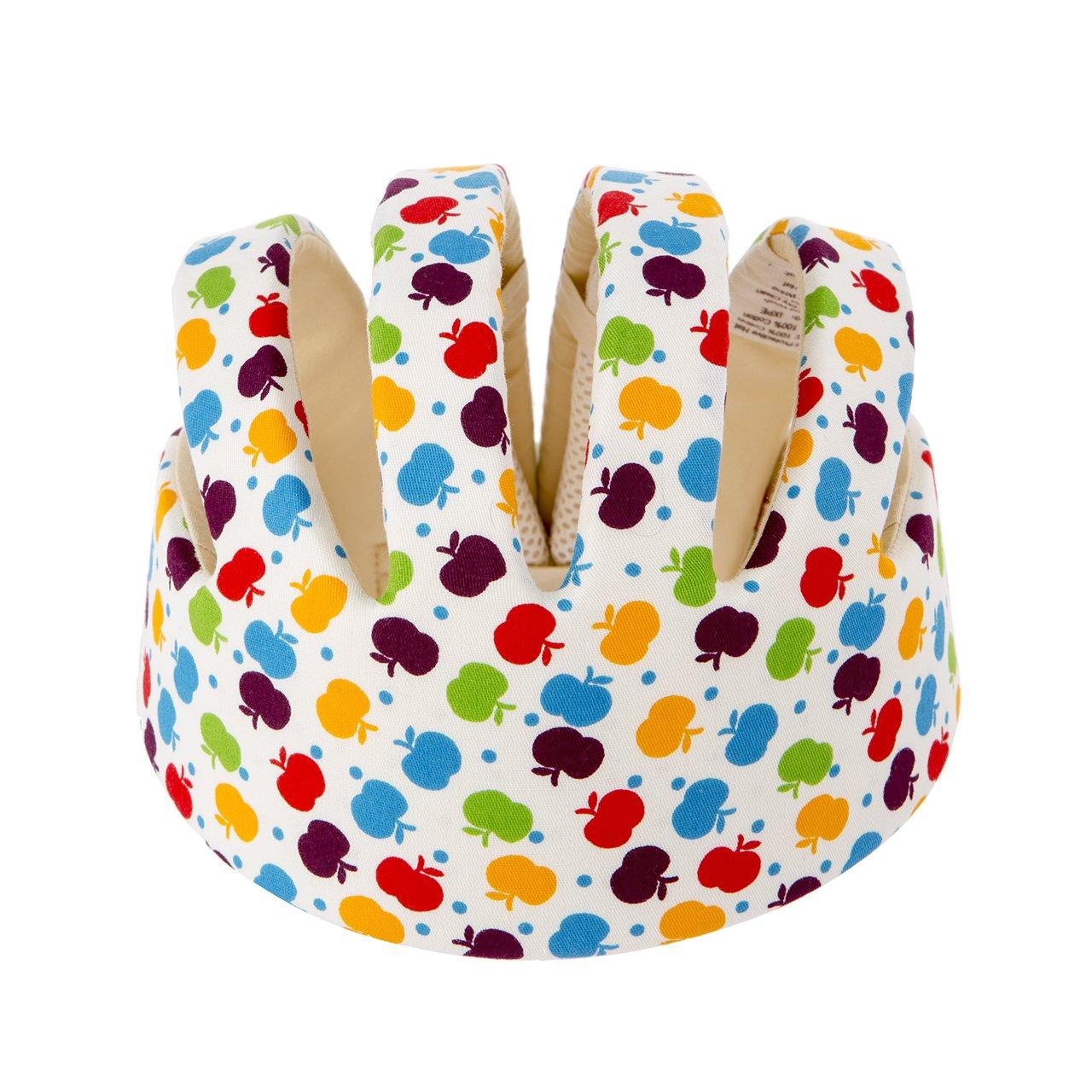 Newcomdigi Baby Infant Head Helmet Toddler Safety Helmet Infant Toddler Kids Children Apple Pattern