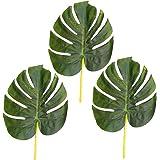 Set di 3 foglie artificiali di Monstera, 28 cm
