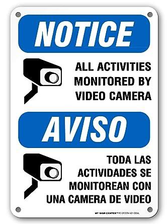 Amazon.com: Aviso todas las actividades Monitored por cámara ...