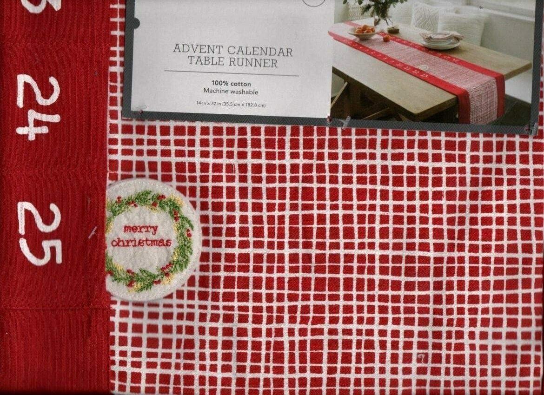 Christmas Present Mantel Scarf Red 14 x 72