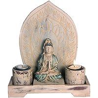 Discount Etnico–Kuan Yin Hoja Dos Velas Tamaño 26x