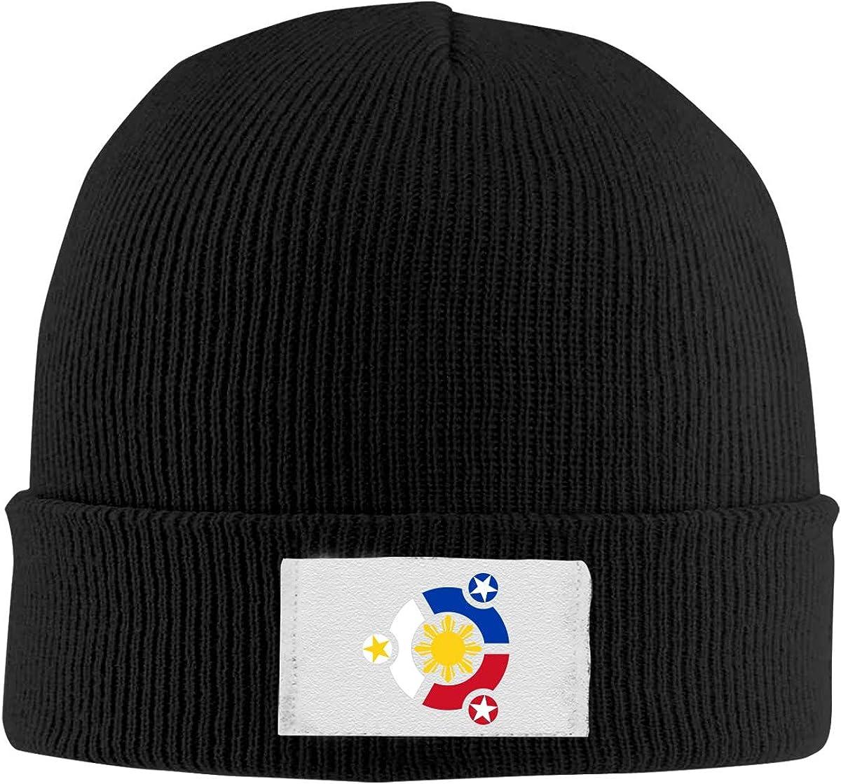 Dunpaiaa Skull Caps Music Winter Warm Knit Hats Stretchy Cuff Beanie Hat Black