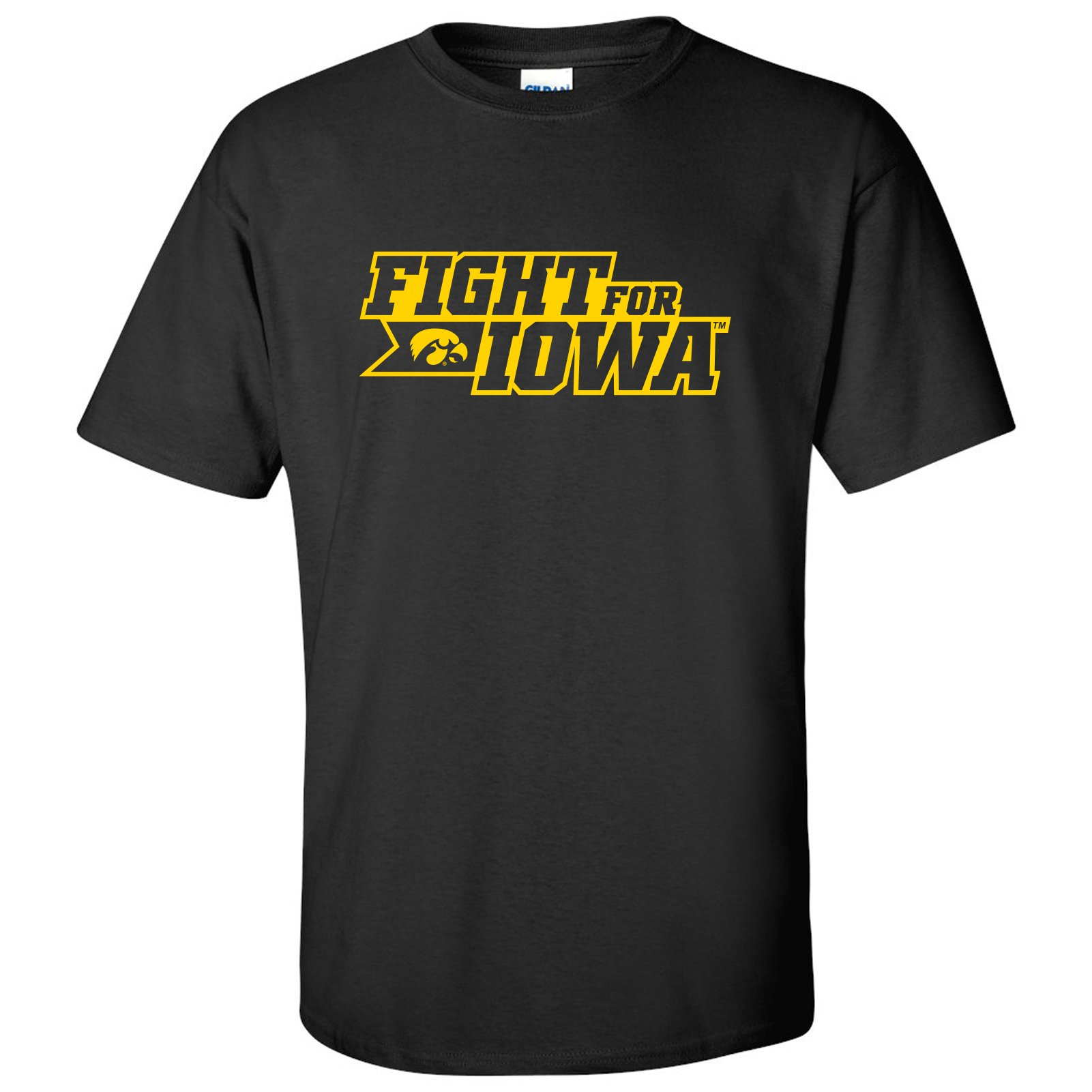 Iowa Hawkeyes Fight for Iowa Basic Cotton T-Shirt - Small - Black