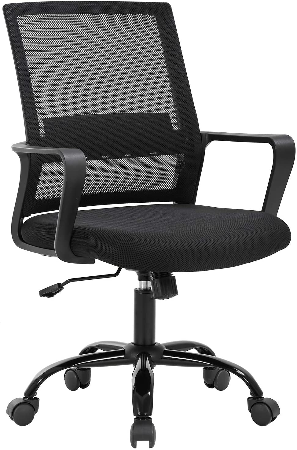 Home Office Chair Ergonomic Desk Chair Swivel Rolling Computer Chair Executive Lumbar Support Task Mesh Chair Adjustable Stool for Women Men,Black