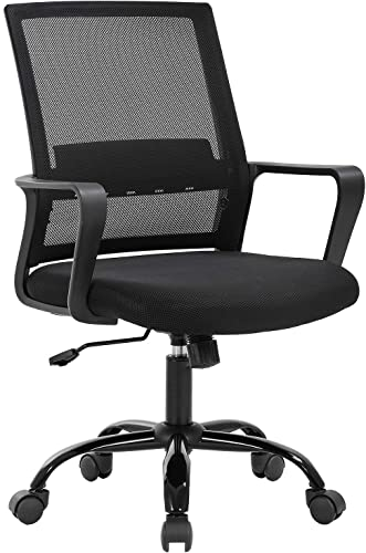 Home Office Chair Ergonomic Desk Chair Swivel Rolling Computer Chair Executive Lumbar Support Task Mesh Chair Adjustable Stool