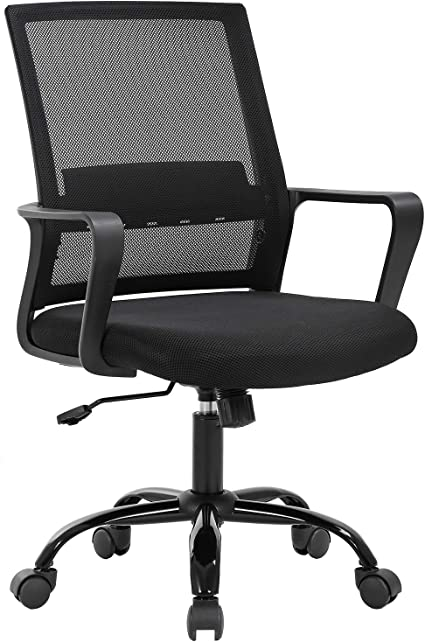 Amazon Com Successfulhome Ergonomic Office Chair Home Office Chair Desk Mesh Computer Chair With Lumbar Support Adjustable Backrest And Flip Up Armrests Black Blue Kitchen Dining