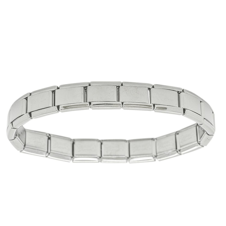 18 Link Shiny Daisy Charm Classic Size Italian Charm Stainless Steel  Starter Bracelet Fits Nomination  Amazon.co.uk  Jewellery ecbda6cf8