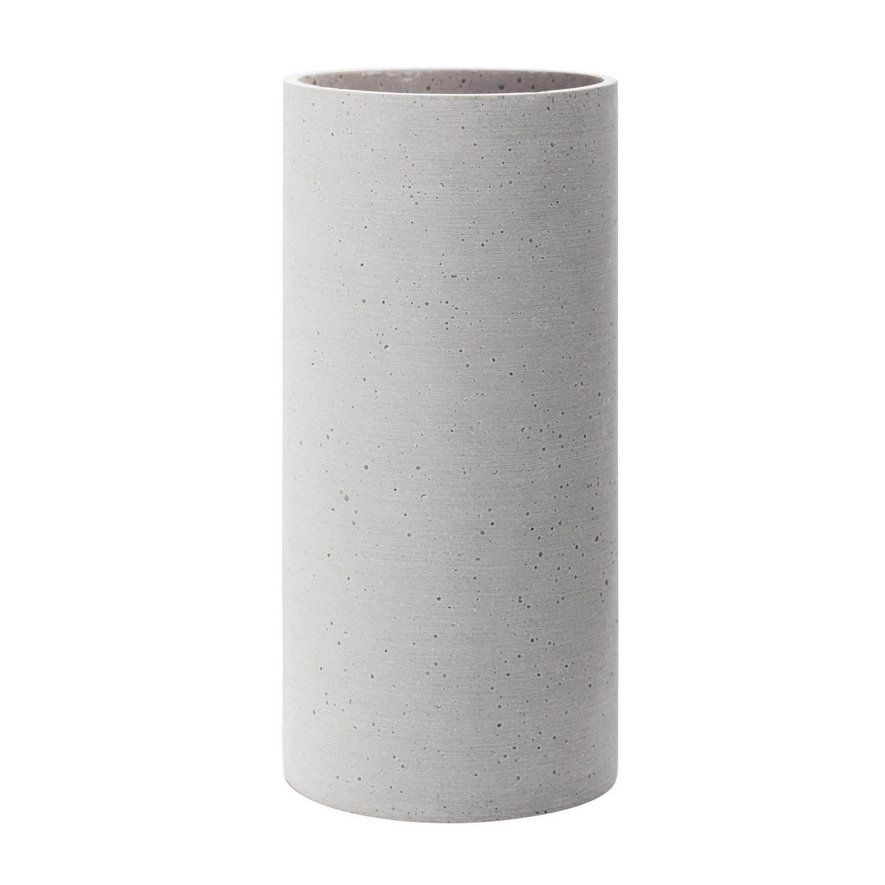 Blomus 65597 Coluna Vase-Large, Light Gray
