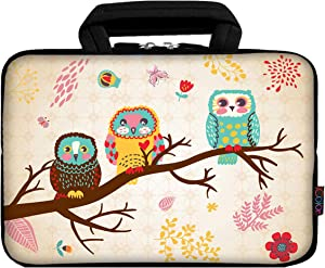 iColor 11 11.6 12.1-inch Laptop-Case Bag - Notebook Chromebook Case Ultrabook Bag Sleeve Computer Protective Cover Carrier Pouch (ThreeOwl)