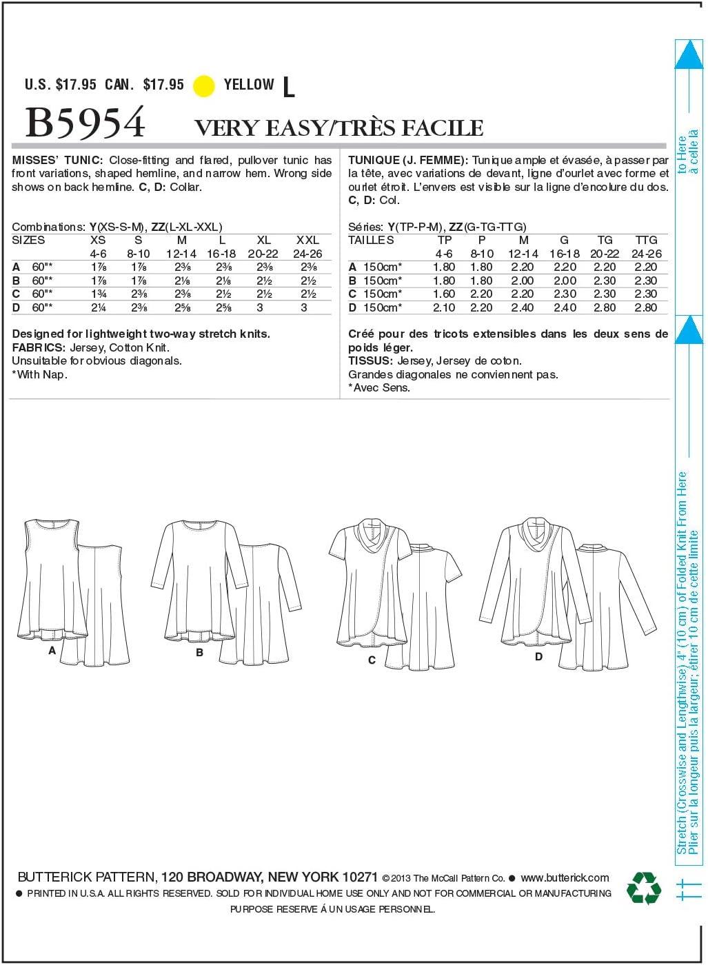 Butterick BTK 5537 XN XL-XXXL Elegant Extravagant B5537 Schnittmuster zum N/ähen Modisch