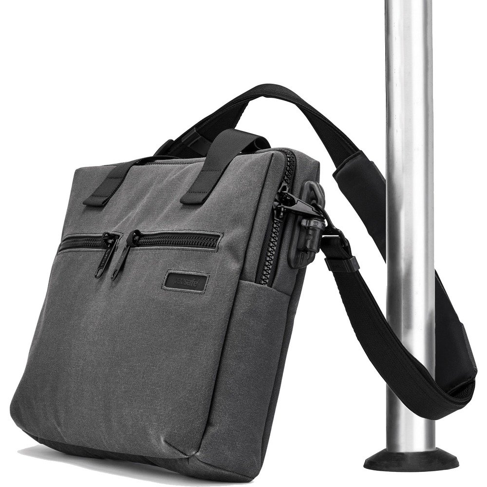 PacSafe Intasafe Anti-theft 15-inch Laptop Slim Brief - Charcoal Briefcase