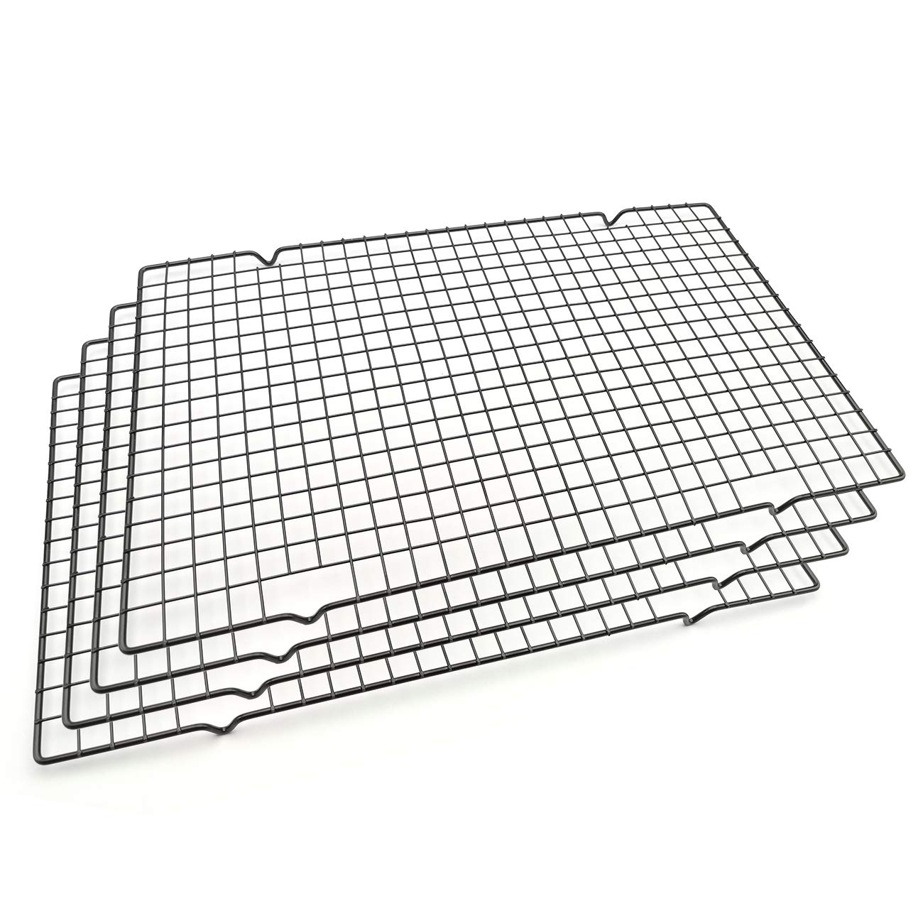 Baking Rack Cooling Rack,Size 16''x 10'' - Cool Cookies Cakes Breads - Heavy Duty Commercial Quality Wire Rack (4 pack)