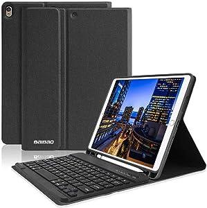 "iPad 10.5 Keyboard Case with Pencil Holder for iPad Air 3 2019/iPad Pro 10.5"" 2017,Magnetically Bluetooth Keyboard,iPad Case with Detachable Keyboard (Black)"