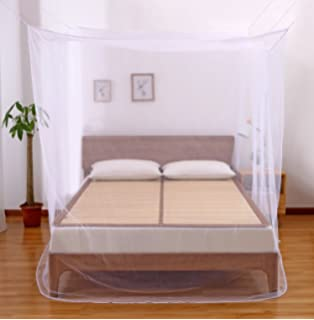 Amazing Faswin Rectangular Fine Mesh Mosquito Net for Double Bed Two Openings Insect Protection Repellent