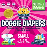 Bodhi Dog Disposable Dog Female Diapers | 20 Premium Quality Adjustable Pet Wraps with Moisture Control & Wetness…