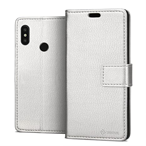 RIFFUE® Funda Xiaomi Mi 8, Carcasa Xiaomi Mi8 Libro Suave Delgada con Tapa Flip Folio de PU + Silicona Elegante Retro, Soporte Plegable, Billetera, ...