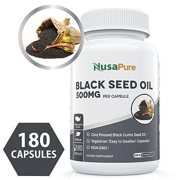 Amazon com: Black Seed Oil 180 Softgel Capsules (Non-GMO