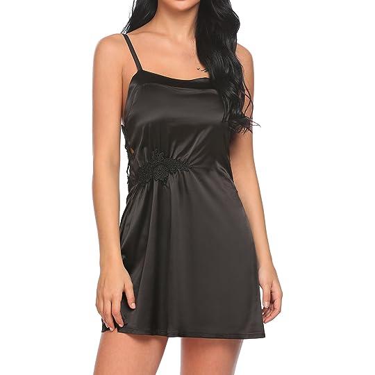 1ccd769c94ea Don't Miss This Deal on Ekouaer Women's Satin Nightgown Silk Soft Sleepwear  Sexy Lingerie Chemise Night Dress Lace Trim Slip Pajamas S-XXL: