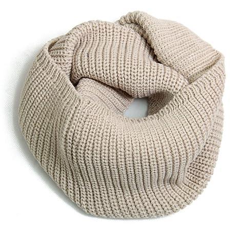 b3aafe387123 Fletion Femmes Hommes tricotage Echarpes en laine Chaude hiver épais tricoté  écharpe Snood châle Circle Loop
