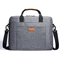 KALIDI 13.3-14 Inch Laptop Bag Water-resistant Shockproof Shoulder Bag Computer Case Sleeve with Detachable Strap for Laptop,Macbook,Notebook,Chromebook,Tablet,Grey