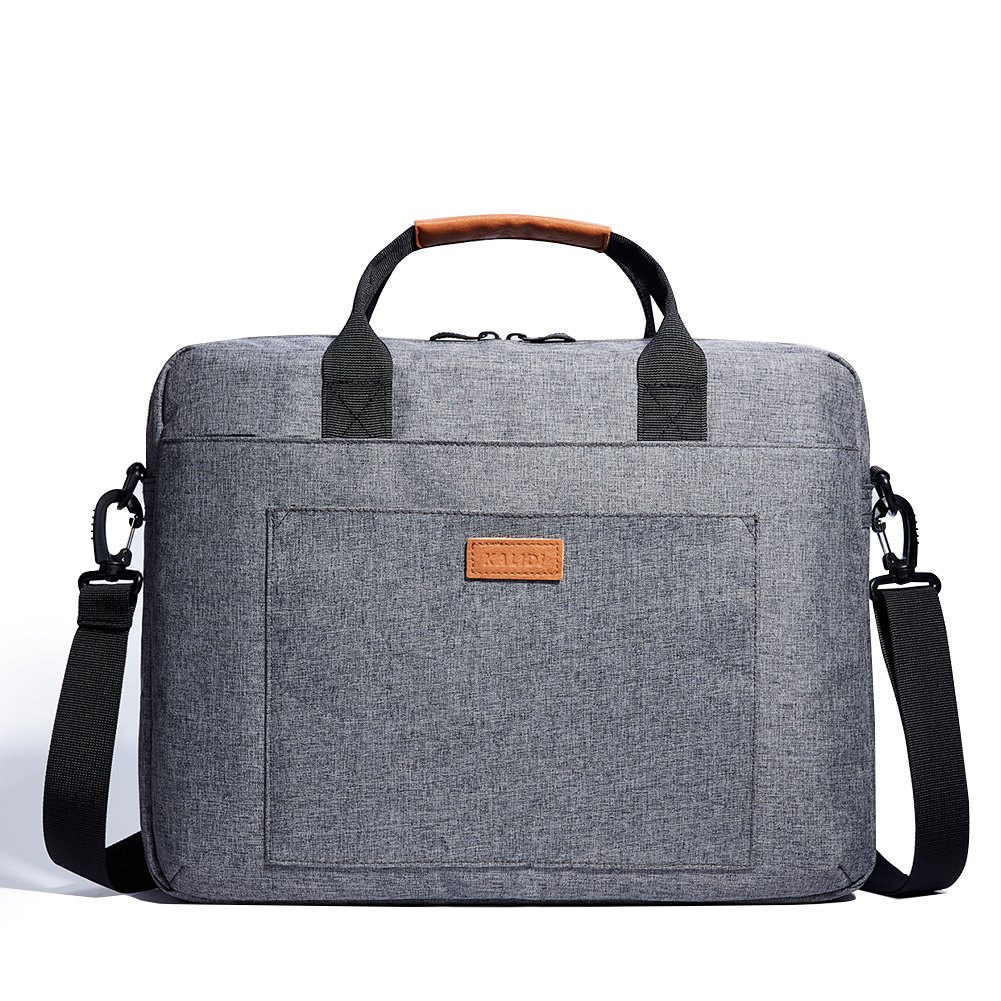 Laptop Shoulder Bag Sleeve Briefcase Case for 13-13.3 Inch Laptops//MacBook//Notebook//Chromebook with PU Leather Fabric and Carrying Strap Grey