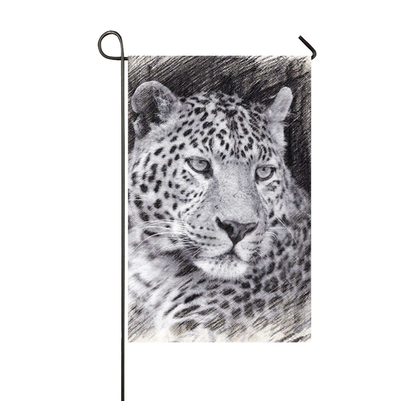 Amazon Com Paux Cute Leopard Double Sided Appliqu Garden Flag 12
