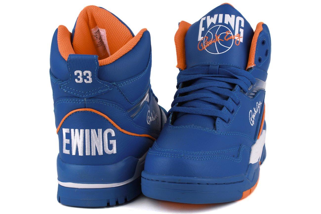 Patrick Ewing CENTER HI Zapatillas Sneakers Cuero Azul Naranja para Hombre Baloncesto: Amazon.es: Deportes y aire libre