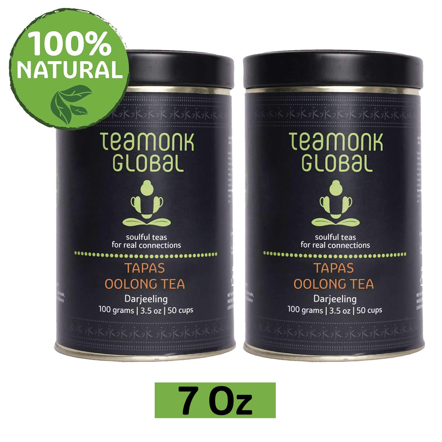 Darjeeling Oolong Tea, 7 oz- Pack of 2 (3.5oz each) |Supports Weight Loss | 100% Natural Whole Loose Leaf Tea fromthe Himalayas|No additives