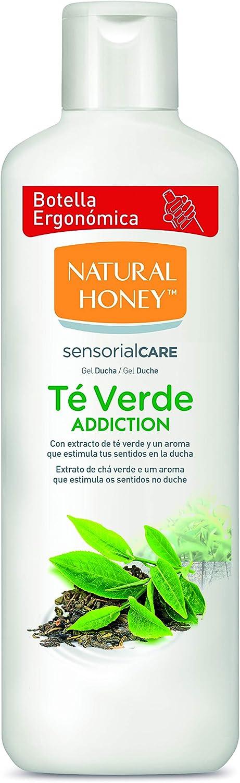 Natural Honey Té Verde - Jabon suave para manos y cuerpo, lava y desinfecta las manos, pack 4 x 650 ml (2600 ml Total)