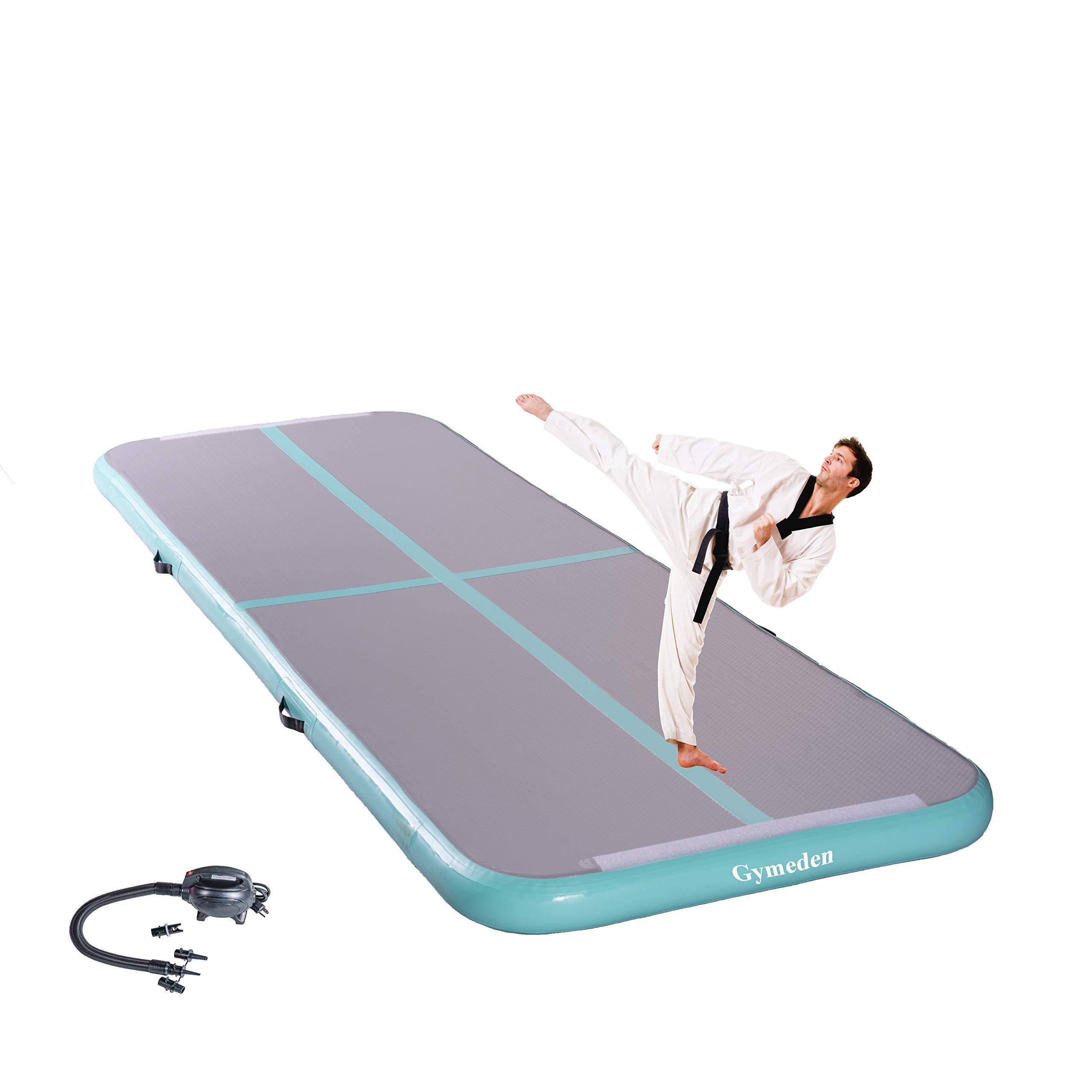 Gymeden Multi-Function extensible Airtrack Tumbling mat Kid Gymnastics mat Inflatable Gymnastics air Track air Tumble Track for Gymnastics Gym mats for Kids Taekwondo Dancing,Parkour,Yoga,Tumbling