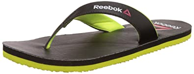 Reebok Men's Advent Black and Blue Sport Flip-Flops and House Slippers - 9 UK/India (43 EU)(10 US) 0OhHMCqCGm