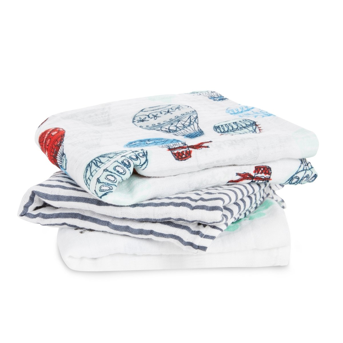 aden + anais musy squares, 100% cotton muslin, 70cm X 70cm, 3 pack, leader of the pack Aden and Anais 7226G