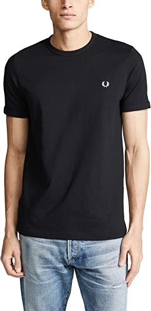 TALLA S. Fred Perry - Camiseta Hombre Basic Blanca