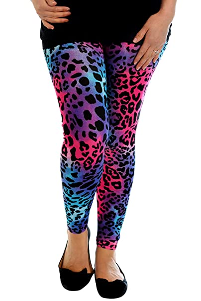 New Womens Leggings Ladies Full Length Trousers Paisley Print Plus Size Nouvelle