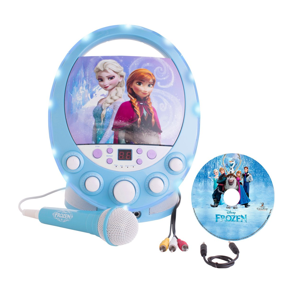 Frozen Disney's Karaoke Machine with Bonus FREE CD-G Songs from the HIT MOVIE Color and Style May Vary
