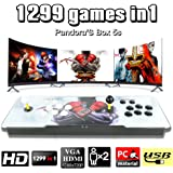 Leermart Pandora's Box 5s Arcade Console 1299 Game in 1 Classic Games 2 Players Full HD Video Game Console with LED Double Arcade Machine Joystick Supprot HDMI & VGA Output