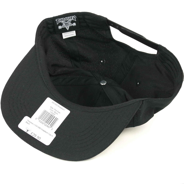 Thrasher x GX1000 Snapback Cap in Black  Amazon.co.uk  Clothing ca6d80110