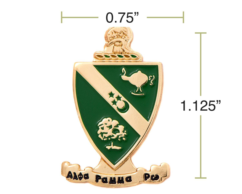 Desert Cactus Alpha Gamma Rho Fraternity Crest Lapel Pin Enamel Greek Formal Wear Blazer Jacket agr by Desert Cactus (Image #2)