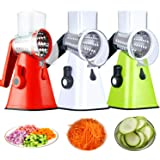 3 in 1 Rotary Drum Grater Vegetable Chopper Manual Multifunction Food Slicer Kitchen Cutter Easy to Use Save for Time…