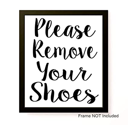 picture about No Shoes Sign Printable identify : Remember to Clear away Your Sneakers 8x10 Personalized Print Signal