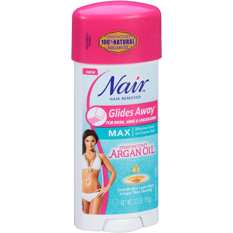 Nair Hair Remover Glides Away Nourish With Argan Oil 3.3oz
