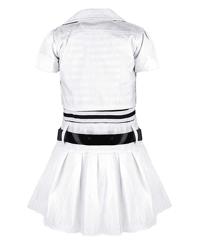 Girls Belted Sleeveless Dress /& Short Sleeve Jacket Diamante Apple Design